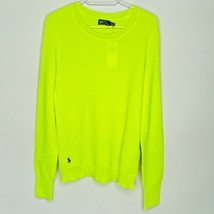 Ralph Lauren Polo Mens Waffle Knit Neon Sweater NWT - $197.01