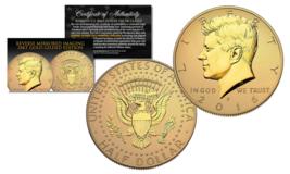 2016-P Kennedy Half Dollar Coin REVERSE MIRROR IMAGING & FROSTING 24K Go... - $19.75