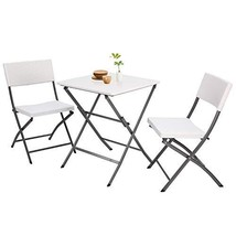 5Rcom 3 Piece PE Rattan Bistro Set,Outdoor Patio Furniture Weather Resis... - $110.90