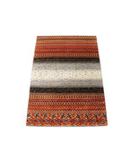 """5'6"""" x 7'10"""" Thick Pile Stripe Gabbeh  Woollen 100% Hand Knotted Rugs & ... - $880.11"""