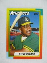 Steve Howard Oakland Athletics 1990 Topps Baseball Card Number 43 T - $0.98