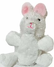 "6"" White Bunny Plush Stuffed Animal Webkinz by Ganz White pink ears - $12.47"