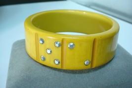 Vintage Gamblers Bakelite Dice Carved Bangle Bracelet Unusual  - $247.50