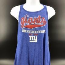 NFL Teens NY Giants Sleeveless Top Size Juniors L (11/13) Cotton/Poly -NEW -j - $24.99