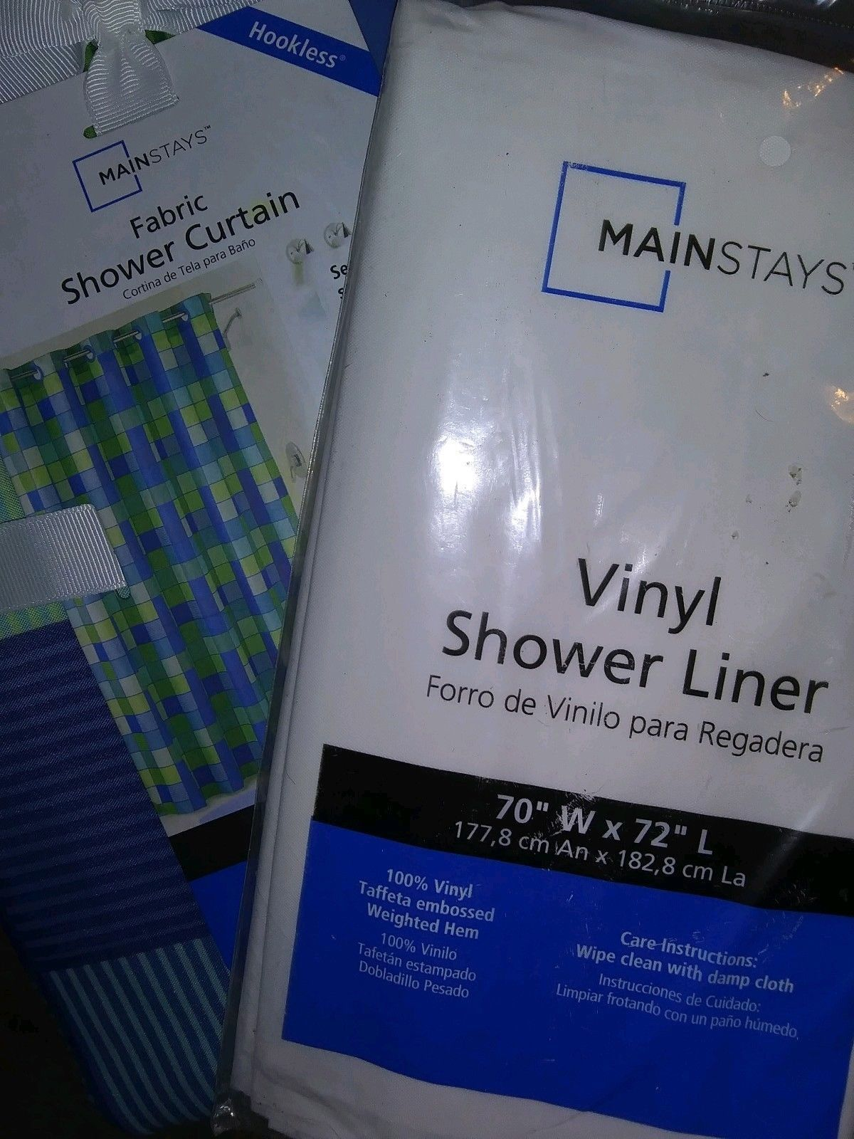 Mainstay shower curtain set