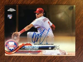 2018 Topps J.P. Crawford RA-JC Rookie Baseball Card Auto Autograph Phillies - $9.99