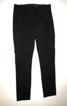 New Womens Designer NWT LAMB Gwen Stefani Cargo Pants Stretch Skinny 6 Black image 2