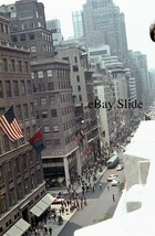 1964 5th Ave Street Scene Two Way Traffic 35mm Slide Scribners KLM 48 49... - $49.49