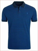 Greyson Men Collar Polo Shirt pima Cotton PW0574 Black Blue L MSRP $148