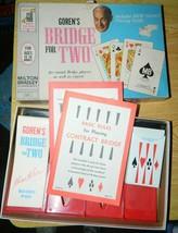 Goren's Bridge For Two Milton Bradley Vintage Card Game Complete - $12.00