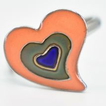 Kid's Fashion Silver Tone Heart Color Changing Fashion Adjustable Mood Ring image 5