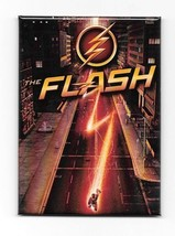 DC Comics The Flash TV Series Logo and Speeding Refrigerator Magnet NEW ... - $3.99