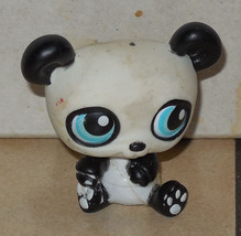Hasbro LITTLEST PET SHOP LPS #90 Panda Bear white and black with Blue eyes - $9.50