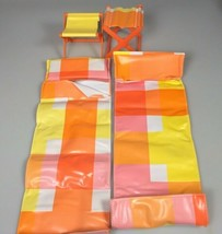 Vintage Barbie doll sleeping bags camping chairs country camper camping accessor - $19.27