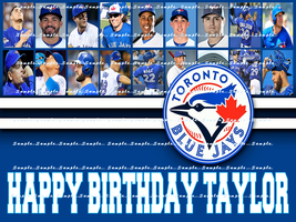 TORONTO BLUE JAYS: Personalized Edible Image Cake Topper - $9.78