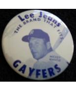 1970s  Mickey Mantle Pinback - Lee Jeans- Gayfers -New York Yankees  - $19.95