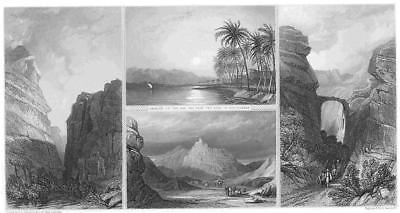 Primary image for MIDDLE EAST Petra Edom Aaron's Tomb - 1860s Steel Engraving Print