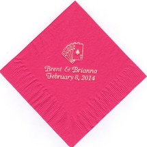 Royal Flush Cards Logo 50 Personalized Printed Luncheon Dinner Napkins Wedding - $11.87+