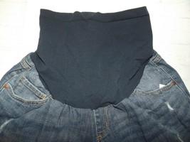 Motherhood Oh Baby Maternity Denim Shorts Sz Medium Distressed Med Wash ... - $17.39