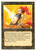 Magic: The Gathering 3rd Edition - Paralyze - $0.39