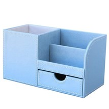 Leather Desk Organizer Home Office Storage Collection Multifunctional Ho... - $27.10 CAD
