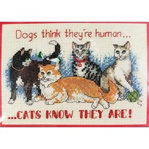 Cats Know Counted Cross Stitch Kit 7 x 5 Dimensions 6787 c2680 - $11.99