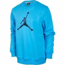 Jordan Jumpman Crewneck Men's Fleece T-Shirt Athletic Sky Blue-Black 574... - $64.95