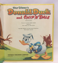 Disney's Donald Duck and Chip N Dale children's book Whitman vintage 1954 image 2