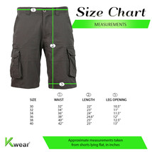 Men's Cotton Multi Utility Pockets Relaxed Fit Casual Outdoor Army Cargo Shorts image 2