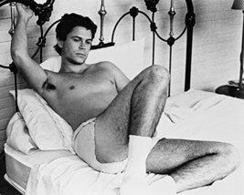 Rob Lowe Masquerade Boxer Shorts On Bed B&W 16x20 Canvas Giclee - $69.99