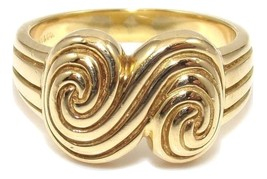 Tiffany & Co. 18K Yellow Gold Scroll Swirl Ring 6 - $750.00