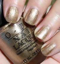 OPI Nail Polish Lacquer Z19 Swiss Collection Glitzerland 0.5oz 15ml Gold... - $10.79