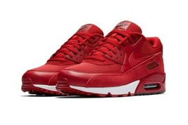NEW Nike Air Max 90 Essential Red Suede Low-Top Running Shoes 537384-604... - $158.39