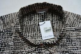 Calvin Klein Woman Top Tunic 2X Plus Animal Print CK Roll Tab Sleeves NWT image 6