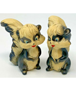 Japan Skunk Salt And Pepper Shaker Vintage Pair 19-2559B - $18.95