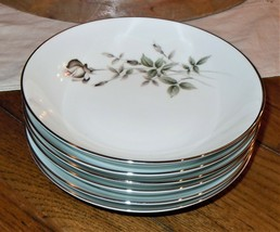 "Noritake JANETTE 6pc Soup Bowl Set 6604 Rose Stem 7.5"" Diameter Japan 19... - $39.59"