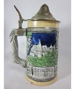 Vintage Arnart German Lidded Beer Stein Schloss Lembeck Castle - $19.79