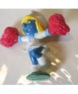 Vintage SMURFS Smurf SMURFETTE Cheerleader mini PVC Figure toy - $5.99