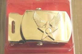 Usaf Us Air Force General Officer Ranks Polished Silver Hap Arnold Belt Buckle N - $28.70