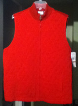 """Alfred Dunner """"Cabin Fever"""" Quilted Sweater Vest 16W NWT (MSRP $56!!!) - $29.03"""
