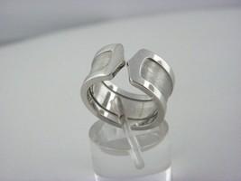 Logo De Cartier 18k White Gold Double-C Ring, Size 6.5 - $1,068.20