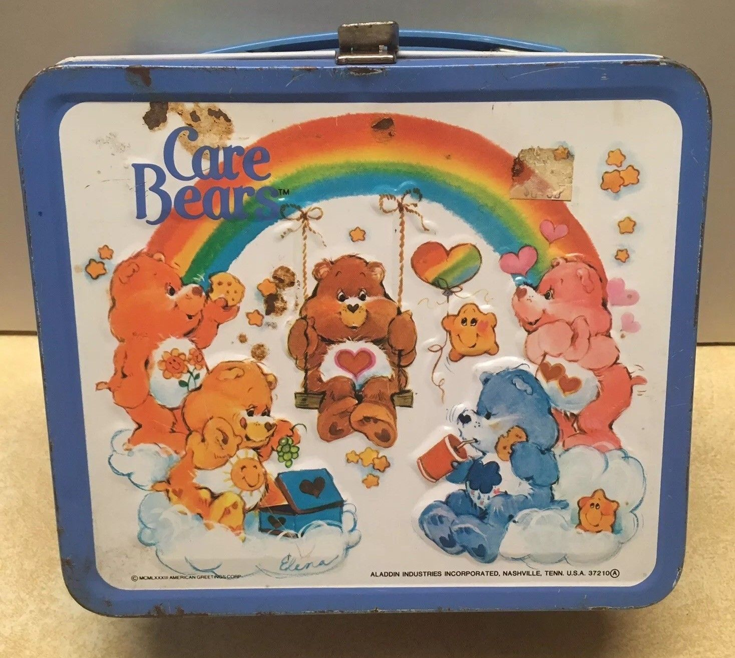 Care Bears Metal Lunchbox Vintage 1983 Blue And 10 Similar Items
