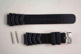 20mm Black  PVC  Plastic Divers Watch band FITS SEIKO or any 20mm Divers... - $12.95