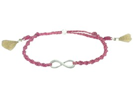 GBJ Pink INFINITE INSPIRATION fancy braid bracelet; Guatemala artisans; ... - $2.96