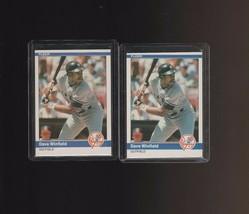 1984 Fleer #143 Dave Winfield  HOF Yankees  Lot of 2 - $1.00