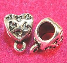 10Pcs. Tibetan Silver Heart BAILS Pendant or Charm Connectors Findings B... - $21.42
