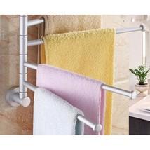Towel Bathroom Rotating Rack Bar Wall Organizer Hanger Mount Chrome Toil... - $20.53