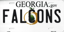 Falcons Georgia State Background Metal License Plate Tag (Falcons) - $11.95