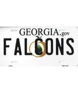 Falcons Georgia State Background Metal License Plate Tag (Falcons) - $11.35