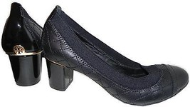 Tory Burch Carrie Quilted Leather Cap Toe Pump 7.5Black Low Heel Shoes G... - $169.99
